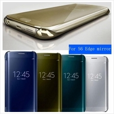 Samsung Galaxy NOTE 4 5 S6 & S6 Edge PLUS Clear Mirror Cover Flip Case