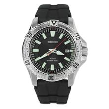 SEIKO SOLAR SNE293P2 SNE293 BLACK RUBBER DIVER'S 200M MENS WATCH