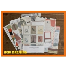 Korean 'Daily Deco Retro V3 Sticker' - Zakka/Diary/Photobook DIY