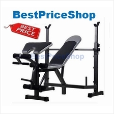 Multifunction WeightLifting Barbell Squat 6 packs Bench Dumbbell JL010