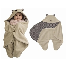 Newborn Baby Soft Cotton Swaddle Blanket Wrap Hood