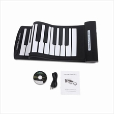 Portable 61 Keys Flexible Roll-Up Piano USB MIDI Electronic Keyboard H