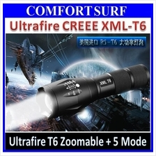 Ultrafire T6 Brightest LED Zoomable Torch light Flashlight + 5 Mode