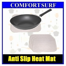 3pcs of White Silicone Mat Heat Kitchen Pot Pan Holder Anti-slip