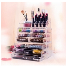 Acrylic Makeup Organizer Jewelry Case 9 Drawers Bathroom Storage Box