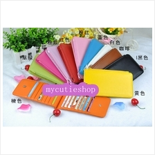PR060  Two Fold Button Long Card Purse