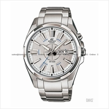 CASIO EFR-102D-7AV EDIFICE day-date LED SS bracelet silver