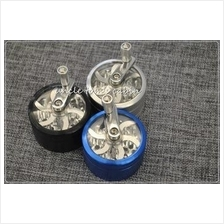 1pc 56MM 3 layers Hand Crank Tobacco aluminum Grinder herb crusher