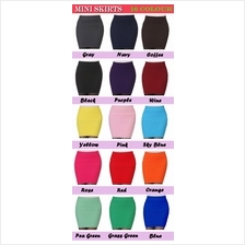 Stretchable Candy Multi Colour SLIM Band Short Mini A-Line Skirts