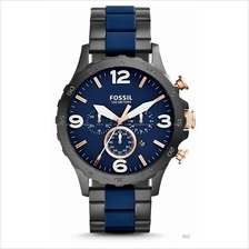 FOSSIL JR1494 Men's Nate Chronograph Bracelet Blue Black