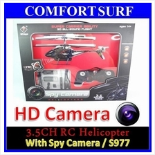 Latest WL S977 RC Helicopter + Spy Camera + LED Light + Gyro + 3.5CH