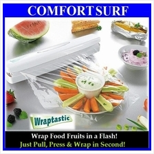 Wraptastic Dispenser Plastic Wax Paper Wrap Food Fruits in a Flash