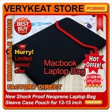 Shock Proof Neoprene Macbook Laptop Bag Sleeve Case Pouch 13-15 inch