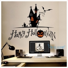 Happy Halloween Removable Wall Stickers And Window Stickers