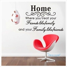HOME Vinyl Wall Stickers Quotes Removable Decorative Decals