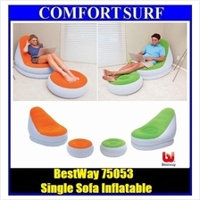 Bestway 75053 Inflatable Relaxing Single Air Chair + Foot Rest Lounge