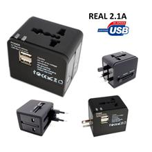 Universal World Travel Adapter USB 2.1A Mobile Phone Charger