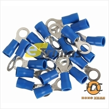 Insulated Ring Terminal Lug Wire Connection Clip Blue (20PCS)