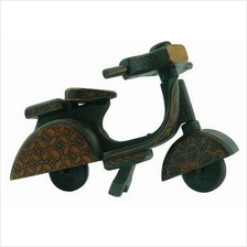 Batik Wood Miniature Vintage Scooter, Vespa (Scale 1:12)