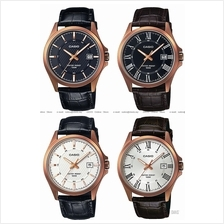 CASIO MTP-1376RL STANDARD analog rose gold classic date leather strap