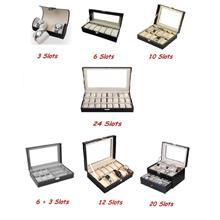 Premium PU Leather Watch Display & Storage Box Case