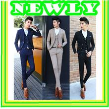 Fall And Winter Clothes New Men's Slim Suits Set