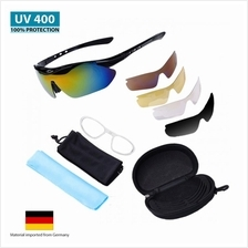 MAXGear Sunglasses 5 Lens UV400 Cycling Outdoor Sports Bicycle SG89