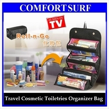Roll N Go Travel Cosmetic Toiletries Jewelry Organize Store Bag Case