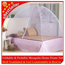 Self Standing Foldable Mosquito Dome Net Double Door Kelambu Nyamuk