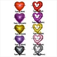 18 inch Love Shape Helium Foil Balloon for Wedding/Party/Event/Propose
