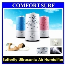 New! Butterfly Design Ultrasonic Humidifier Fresh Air Cleaner No Noise