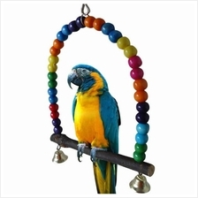Small Size Colorful Swing Bird Toy Parrot Cage Supplies