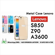 LENOVO S850 A3600 Vibe Xshot Z90-7 Metal Bumper With Back Case Cover