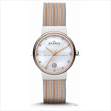SKAGEN 355SSRS Women's Ancher Glitz Mesh Bracelet Two-tone Rose Gold