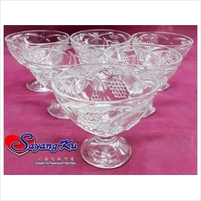 PROMOTION CRYSTAL SMALL ICE CREAM CUP GLASS IC-152 6 UNIT PER BOX