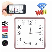H.264 P2P Wall Clock Camera 30M Wifi Distance, Motion Sensor