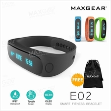 MAXGear E02 Smart Watch Android Bluetooth Fitness OLED Wristband Band