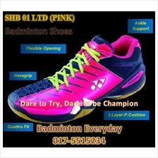 SHB 01 Ltd Pink Badminton Shoes Kasut (Japan)
