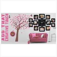 Limited Offer! Fashion Wall Clock with 12pcs DIY Photo Frame Home Deco
