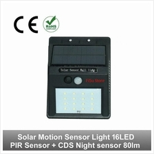 16 led Solar Power Motion Sensor Detector Waterproof Security Lamp