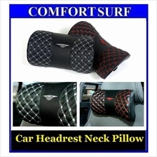 Latest !! Car Headrest Neck Pillow Wine Comfort Leather head Pillow