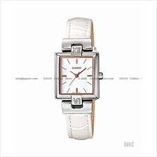 CASIO LTP-1354L-7C1 STANDARD Analog easy reader square leather white