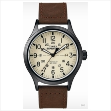 TIMEX T49963 (M) Expedition Scout date leather strap cream brown