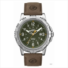 TIMEX T49989 (M) Expedition Rugged Metal Date leather green brown