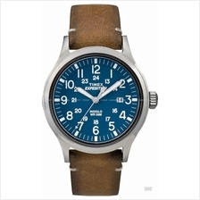 TIMEX TW4B01800 (M) Expedition Scout Date leather strap blue tan