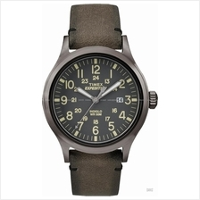 TIMEX TW4B01700 (M) Expedition Scout Date leather strap grey brown