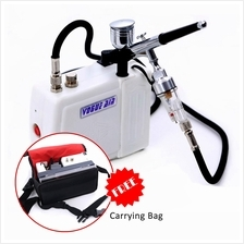 HS08 Mini Air Compressor (Piston Type) Combo with Air brush Pen
