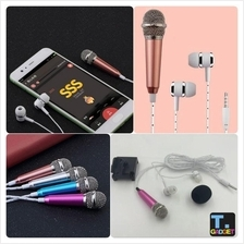 Sing KARAOKE With Wired Mic Mini Microphone For iPhone, Android, PC