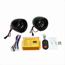 Motorcycle MP3 Player Speakers Audio Sound System FM Radio Security Al
