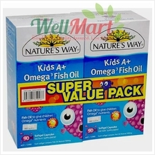 NATURE'S WAY KIDS A+ OMEGA 3 FISH OIL 90's X2